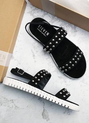 Steven by steve madden оригинал черные замшевые сандалии босоножки