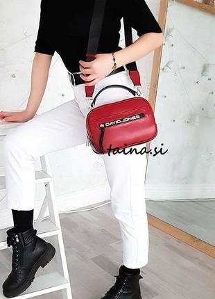 Клатч david jones cm5462 d. red оригинал красная сумка кросс боди