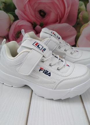 Супер модные кроссовки под бренд fila
