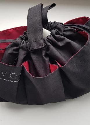 Подарок косметичка органайзер сумка чёрная avon для представителя