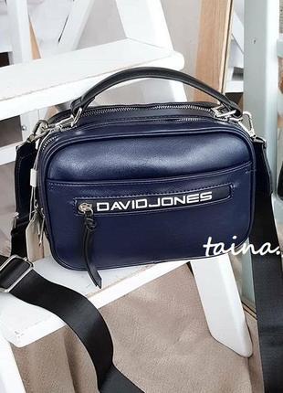 Клатч david jones cm5462 blue оригинал синяя сумка