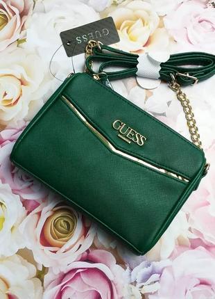 Guess оригинал маленькая сумочка кроссбоди зеленая
