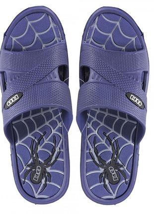 Пляжные шлепанцы spider. синие.