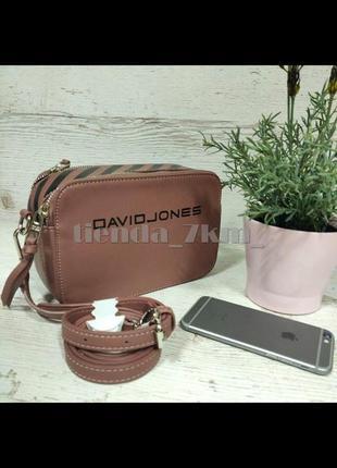 Сумка через плечо / повседневный клатч david jones 6169-1 розовый