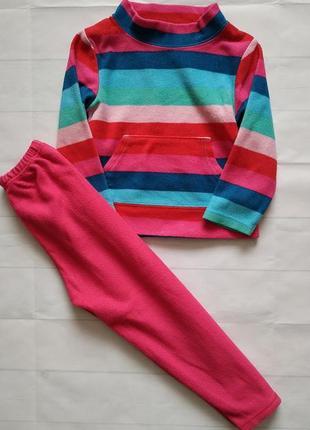 Теплый флисовый костюм f&f (худи и штаны)