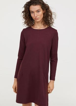 H&m стильное повседневное платье из плотного трикотажа, р.м