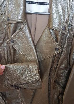 Куртка лакова шкіра