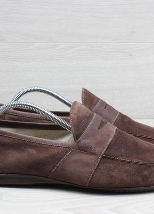 Замшевые мужские мокасины geox оригинал италия , размер 43