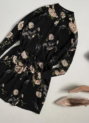 Красивейшее цветочное платье рубашка boohoo