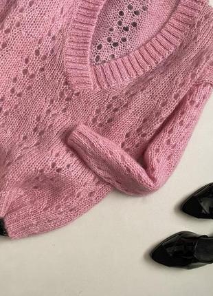 Шикарный объемный свитер шерсть + мохер chelseayoung5 фото