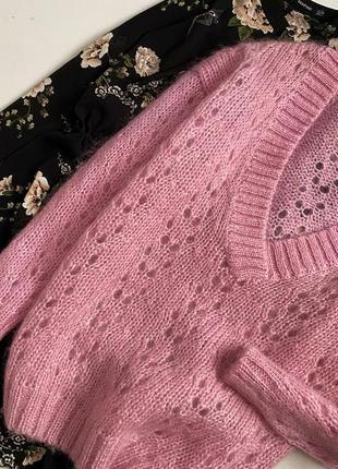 Шикарный объемный свитер шерсть + мохер chelseayoung6 фото