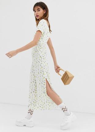 Reclaimed vintage максі-сукня в принт квіточки