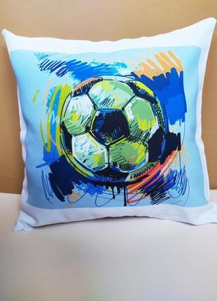 Декоративная подушка футбольный мяч киев, подушка футбол, подушка мяч, подушка для парня