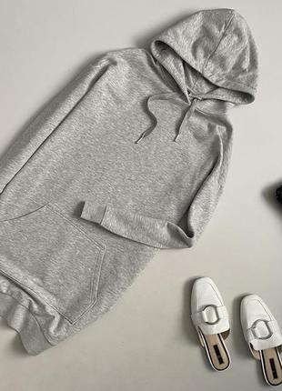 Трендовое теплое  платье худи h&m