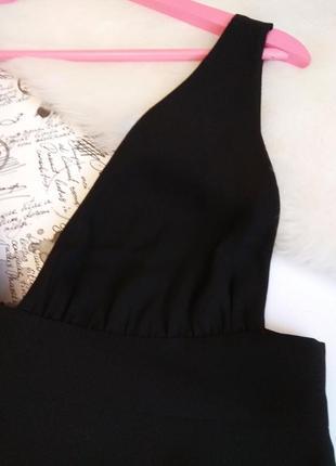 Шикарна чорна майка блуза від zara з відкритою спиною9 фото