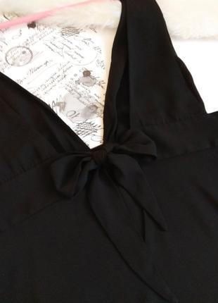 Шикарна чорна майка блуза від zara з відкритою спиною4 фото