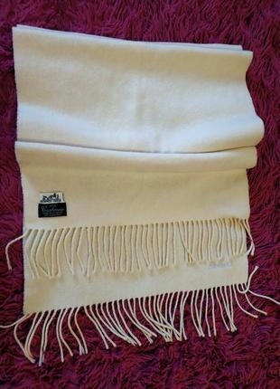 Кашемировый шарф hermès made in great britain.
