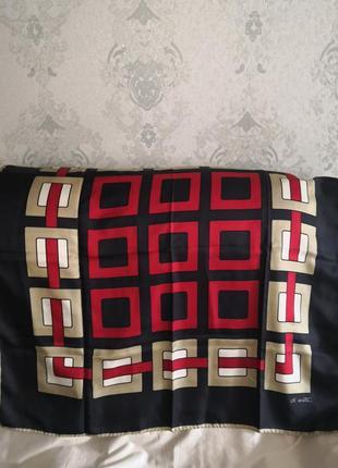 Роскошный брендовый элитный шелковый платок от итальянского бренда marina d'este