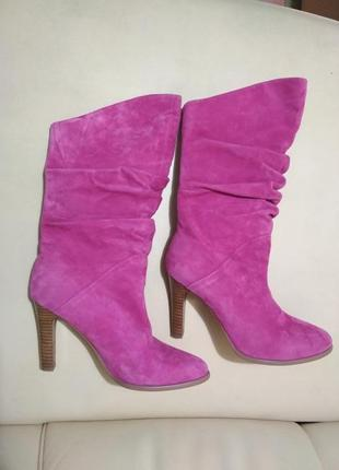 Шикарные розовые сапоги
