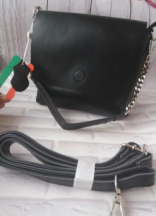 Женская кожаная небольшая сумка из натуральной кожи кожаный клатч шкіряний шкіряна