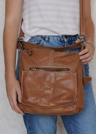 Крутая сумка кроссбоди white stuff, британия, натуральная кожа