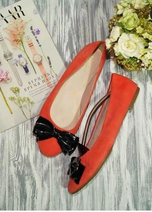🌿41🌿европа🇪🇺 clarks. замша. красивые туфли, балетки на низком ходу