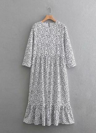 Платье в горох полька зара zara polka размер s-m