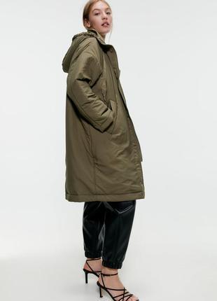 Утепленная зимняя куртка xs s m l zara