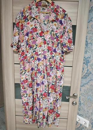 Красивое вискозное платье комбинезон-кюлоты