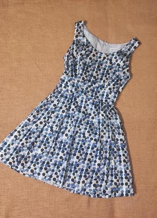 Платье миди свободного силуэта в горошек