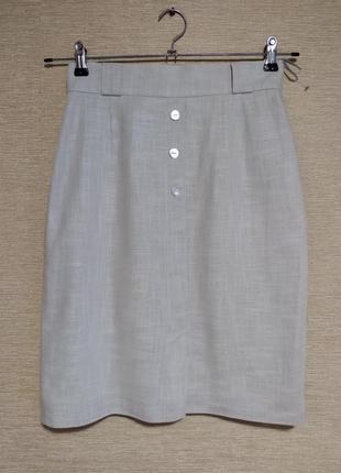 Летняя юбка спідниця из смесовой ткани