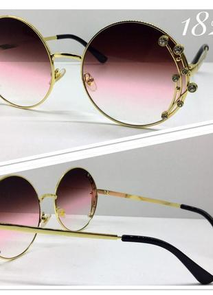 Женские солнцезащитные очки круглые оверсайз