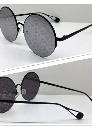 Женские солнцезащитные очки круглые зеркальные линзы