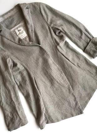 Серый шерстяной пиджак annette gortz
