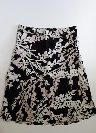 Фирменная льняная юбка на подкладке