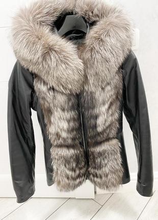 Кожаная куртка-трансформер