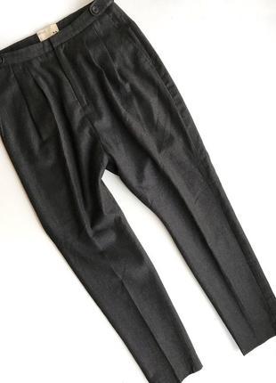 Серые шерстяные брюки rutzou с примесью кашемира rundholz