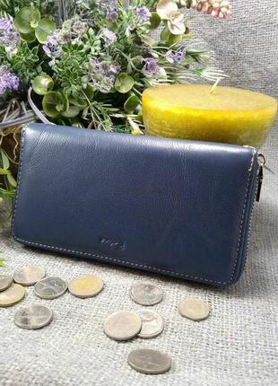 Большой кожаный кошелек-клатч арлекин, 100% натуральная кожа, есть доставка бесплатно