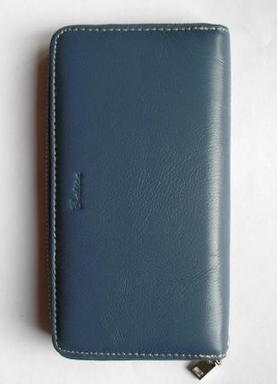 Большой кожаный кошелек-клатч арлекин, 100% натуральная кожа, есть доставка бесплатно5 фото
