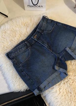 Очень крутые и нереально стильные джинсовые шорты от h&m на р. xs/s...🍓❤️💋