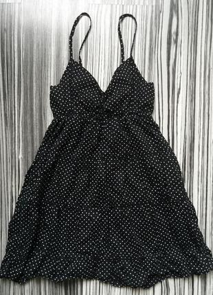 Хлопковый сарафан в горошек платье плаття сукня