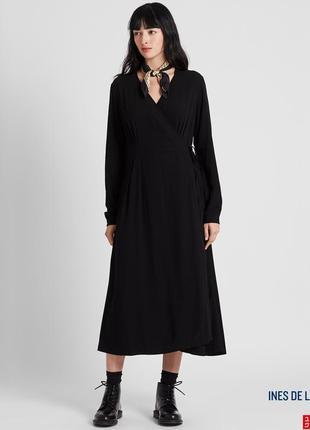 Базовое чёрное платье с запахом