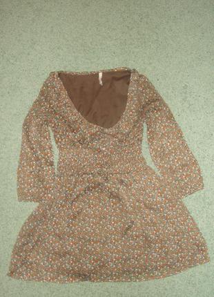 Шифоновое короткое платье