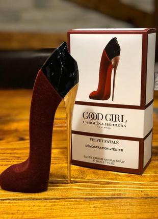Carolina herrera good girl velvet fatale, парфюмерная вода, тестер