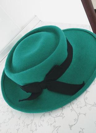 Шляпа фетровая с бантом