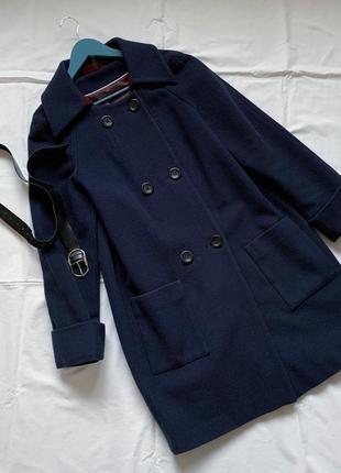 Двубортное пальто базовое naf-naf