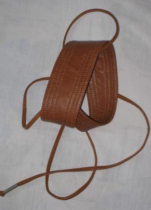 Кожаный ремешок  на завязках