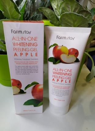 Пилинг скатка farmstay farm stay all in one whitening peeling gel apple