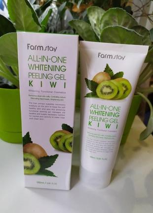Пилинг скатка farm stay all in one whitening peeling gel kiwi farmstay
