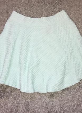 Мятная летняя юбка